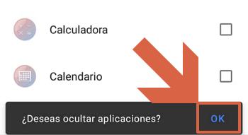 Ocultar aplicaciones con action launcher paso 3