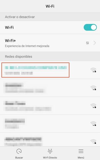 Olvidar red Wi-Fi paso 3