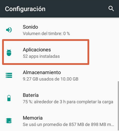 Solución a páginas que se abren por un virus en tu celular paso 2