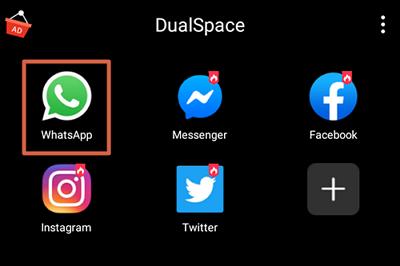 Tener dos WhatsApp con Dual Space paso 3