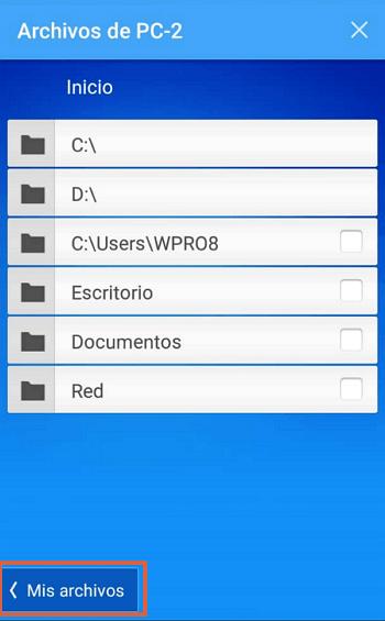Transferir archivos con TeamViewer desde Android al ordenador paso 4.