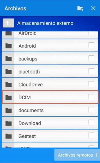 Transferir archivos con TeamViewer desde Android al ordenador paso 6.