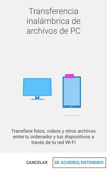 Transferir archivos desde Android al ordenador con File Command paso 3