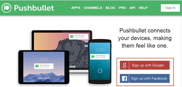 Transferir archivos desde Android al ordenador con PushBullet paso 1