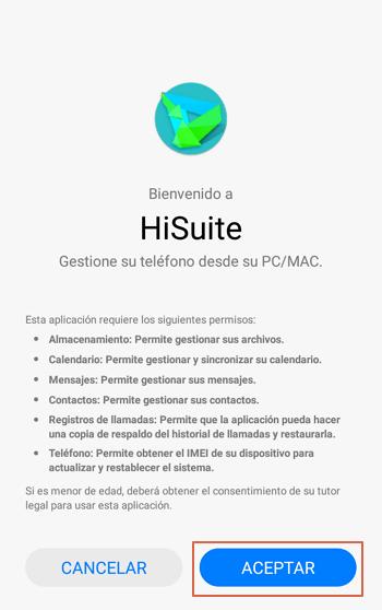 Transferir archivos desde Android al ordenador usando app oficial HiSuite paso 6