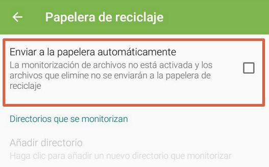 acceder a la papelera de reciclaje con app paso 2.