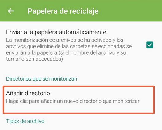 acceder a la papelera de reciclaje con app paso 3