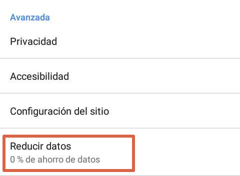 ahorro de datos para reducir anuncios en android paso 3