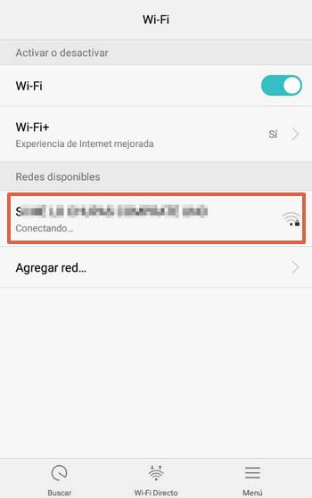 cambiar configuracion IP en el movil paso 1