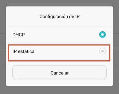 cambiar configuracion IP en el movil paso 4
