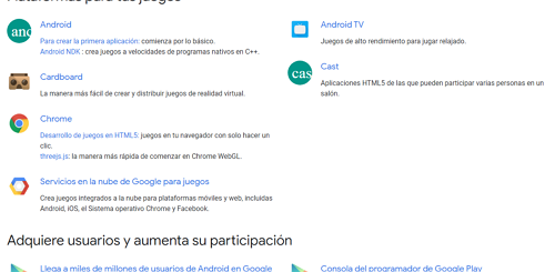 crear juego para Android con Google Developers