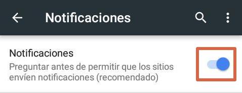 eliminar anuncios en notificaciones android paso 5