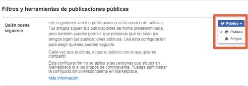 Activar seguidores en la nueva versión de Facebook paso 5