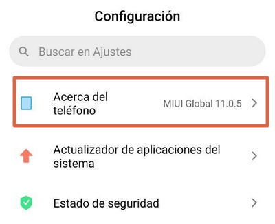 Actualizar el Sistema Operativo para solucionar el error android.process.acore se ha detenido paso 2