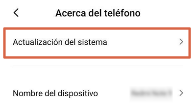 Actualizar el Sistema Operativo para solucionar el error android.process.acore se ha detenido paso 3