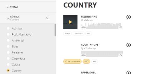 Bajar música gratis desde Icons8music