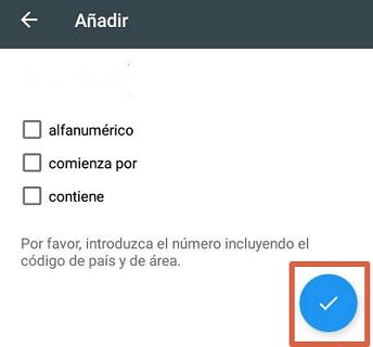 Bloquear el número 912016240 con app externa paso 5