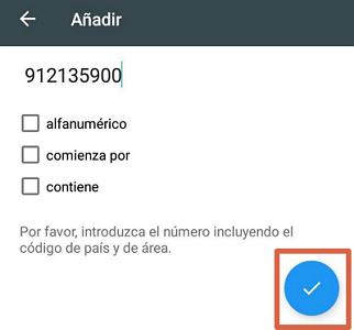 Bloquear el número 912135900 con app externa paso 5