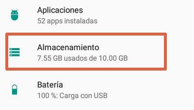 Borrar caché de aplicaciones para solucionar el error android.process.acore se ha detenido paso 2