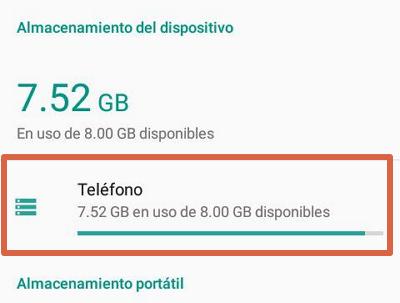 Borrar caché de aplicaciones para solucionar el error android.process.acore se ha detenido paso 3