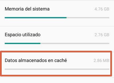 Borrar caché de aplicaciones para solucionar el error android.process.acore se ha detenido paso 4