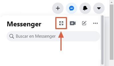 Cómo archivar conversaciones de Facebook Messenger desde el navegador paso 2