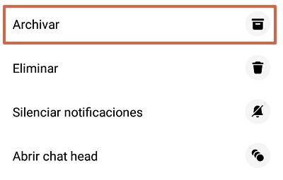Cómo archivar conversaciones de Facebook Messenger desde la app paso 1