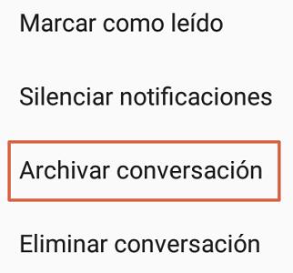 Cómo archivar conversaciones de Facebook desde Messenger Lite paso 1