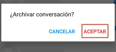 Cómo archivar conversaciones de Facebook desde Messenger Lite paso 2