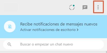 Cómo cerrar sesión en WhatsApp web paso 1