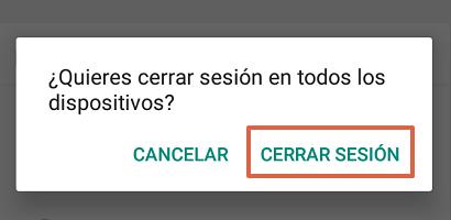 Cómo cerrar sesión en todos los dispositivos de WhatsApp web paso 4