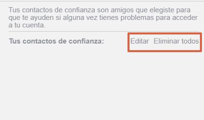 Cómo configurar los contactos de confianza en Facebook paso 6