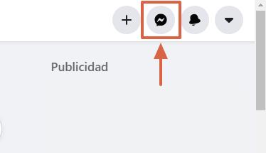 Cómo desarchivar conversaciones de Facebook Messenger desde el navegador paso 1