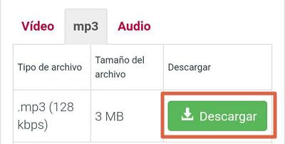 Cómo descargar música gratis desde Android con Y2mate paso 8