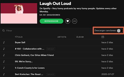 Cómo descargar podcasts en Spotify desde la PC paso 6