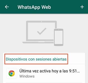 Cómo iniciar sesión en WhatsApp Web dispositivos con sesiones abiertas
