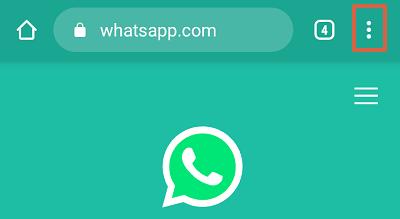 Cómo iniciar sesión en WhatsApp web desde otro teléfono paso 1