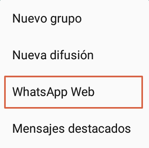 Cómo iniciar sesión en WhatsApp web paso 3