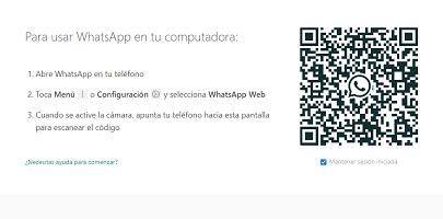 Cómo iniciar sesión en WhatsApp web paso 4