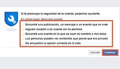 Cómo proteger una cuenta de Facebook con Facebook Hacked paso 2