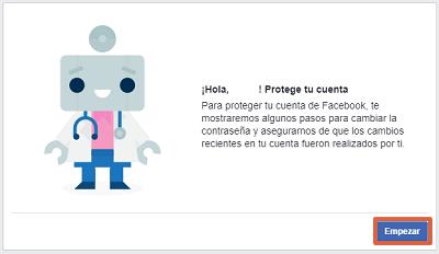 Cómo proteger una cuenta de Facebook con Facebook Hacked paso 3