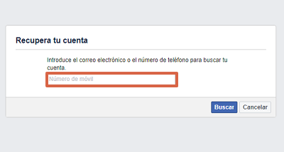 Cómo recuperar una cuenta de Facebook con el correo electrónico paso 2