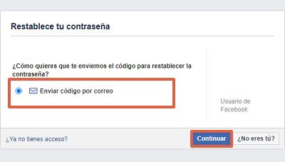 Cómo recuperar una cuenta de Facebook con el correo electrónico paso 3