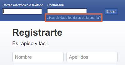 Cómo recuperar una cuenta de Facebook con el número telefónico paso 1