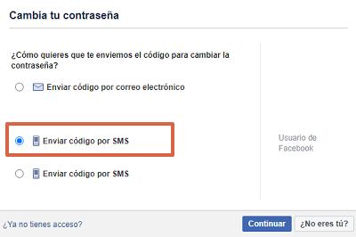 Cómo recuperar una cuenta de Facebook con el número telefónico paso 3