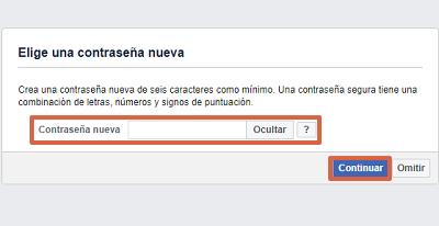 Cómo recuperar una cuenta de Facebook con el número telefónico paso 5