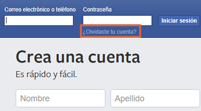 Cómo recuperar una cuenta de Facebook con los contactos de confianza paso 1