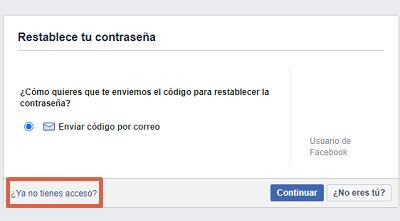 Cómo recuperar una cuenta de Facebook con los contactos de confianza paso 3