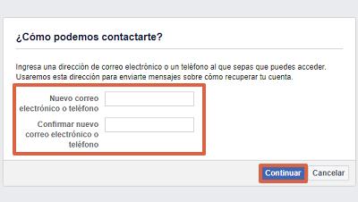 Cómo recuperar una cuenta de Facebook con los contactos de confianza paso 4