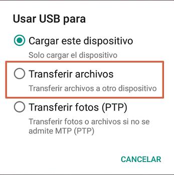 Cómo transferir archivos desde el teléfono a la PC paso 2